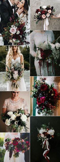 trending moody wedding bouquet ideas #weddingflowers #weddingbouquets #weddingideas