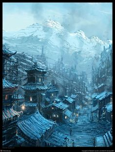 Steampunk Chinese Winter... by Raphael Lacoste