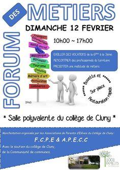 Forum des métiers à Cluny le 12 février 2017 : http://clun.yt/2jQQdue
