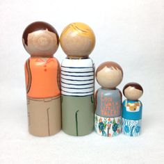 the custom collection  adventurer family peg by thewhimsicalsweet, $40.00