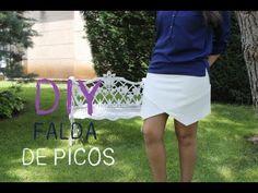Free skirt sewing tutorial. DIY Ropa: Cómo hacer falda de picos