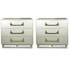 Elegant Pair of Grosfeld House 3 Drawer Chests | From a unique collection of antique and modern commodes and chests of drawers at https://www.1stdibs.com/furniture/storage-case-pieces/commodes-chests-of-drawers/