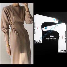 Long Dress Patterns, Dress Sewing Patterns, Sewing Patterns Free, Pattern Dress, Free Sewing, Diy Clothing, Sewing Clothes, Fashion Sewing, Diy Fashion