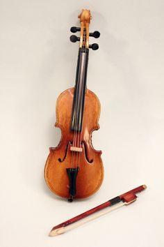 Miniature Cello and Bow Dollhouse Music Room. $12.00, via Etsy.