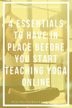 Yoga teachers want to start teaching yoga online. But before you dive into teaching yoga online, there are four essentials that you need to have in place. The Success Club, Yoga Courses, Website Optimization, Teaching Methods, You Better Work, Marketing Training, Online Yoga, New Students, Yoga Teacher Training