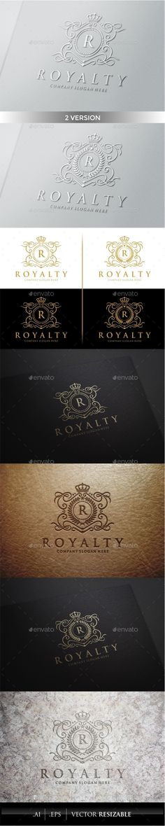 Royalty Logo Template #design #logodesign #logotype Download: http://graphicriver.net/item/royalty-logo-template/9937190?ref=ksioks