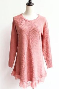 Rose Lace Knit Sweater