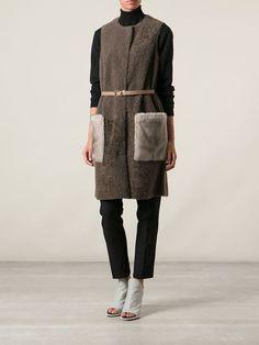 Yves Salomon Reversible Sleeveless Coat  #yvessalomon #vest #fur #gillet #womenjackets #coats www.jofre.eu