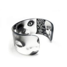 Cuff Resin cuff Graphic  Bangle Bracelet Zombie Baby by BuyMyCrap, $40.00