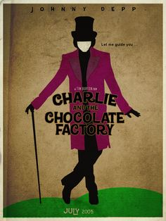 Charlie and the Chocolate Factory by pongelektro #poster #minimalism