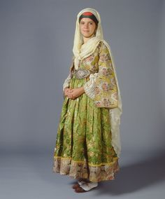 A unique late 18th c. costume from Kymi in Euboea made of two types of French…