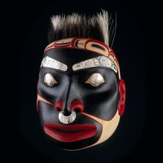 """Prochronia Millennia"" Tsimshian Portrait Mask by Corey W. Moraes, Tsimshian artist (W70411)"