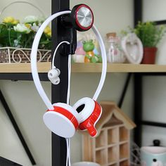 Headphone Headset Wall Holder Hanger PC Monitor Stand Adjustable Head Length