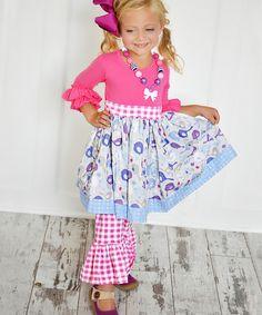 Loving this KPea Original Hot Pink Bird Bailey Dress - Infant, Toddler & Girls on #zulily! #zulilyfinds