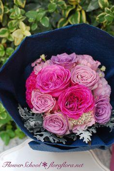 東京目黒不動前 フローラフローラ花の教室 10月生花レッスン「ローズギフトブーケと見応えしちゃう秋の花束」ワンデイレッスンでご参加いただけます : FLORAFLORA*precious flowers*ウェディングブーケ会場装花&フラワースクール*