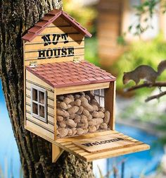 photo of a squirrel house | Nut House Squirrel Feeder
