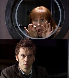 This is one of my most favorite scenes in all of Doctor Who.  The best first (second) meeting with a companion ever!