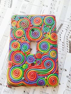 Polymer Clay Filigree Light Switch Cover by Karoger on Etsy