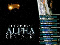 Sid Meier's Alpha Centauri Computer Game intro screen - (1999) -  #classicpcgaming #retrogaming #oldschool
