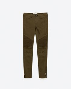 Image 8 of MID-RISE BIKER TROUSERS from Zara