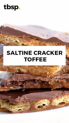 A unique toffee made with saltine crackers and topped with chocolate.