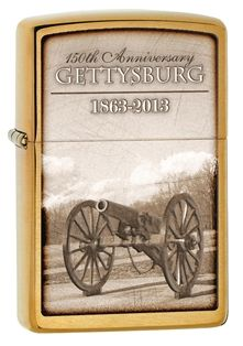 Zippo commemorates the sesquicentennial of the famous battle of Gettysburg with this collectible lighter. This lighter signifies the American Civil War's turning point when union Major General George Gordon Meade's Army of the Potomac defeated attacks by Confederate General Robert E. lee's Army of Northern Virginia, ending Lee's invasion of the North.