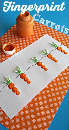 Fingerprint carrots. adorable. #BabyCenterBlog