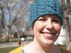 Cerulean Teal Blue Knitted Ear Warmer Headband by KnittingWriter, $25.00