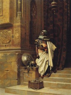 ORIENTALIST PAINTING BY LUDWIG DEUTSCH