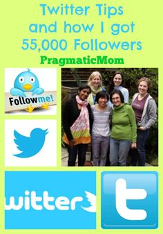 How I got 55,000 followers, twitter tips, how to use twitter :: PragmaticMom