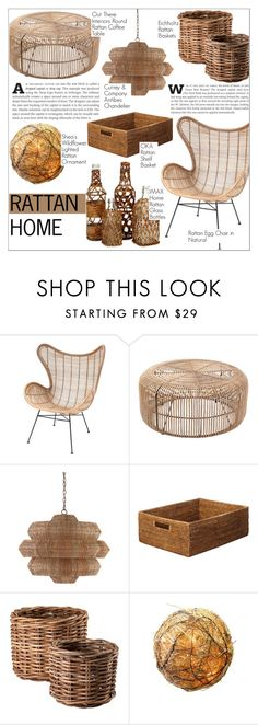 """Rattan Home"" by martso ❤ liked on Polyvore featuring interior, interiors, interior design, home, home decor, interior decorating, Currey & Company, OKA, Eichholtz and Shea's Wildflower"