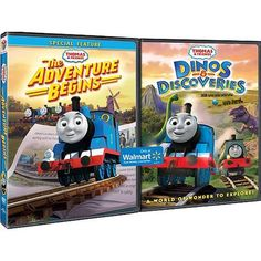 Thomas & Friends: The Adventure Begins / Thomas & Friends: Dinos & Discoveries (Widescreen) - Walmart.com