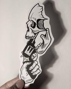 Tatto Skull, Skull Tattoo Design, Tattoo Design Drawings, Tattoo Sleeve Designs, Tattoo Sketches, Tattoo Designs Men, Sleeve Tattoos, Tattoo Old School, Old School Tattoo Designs