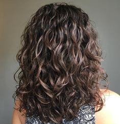 Voluminous Wavy Permed Hair