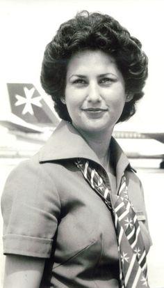 Air Malta Cabin Crew 1980s
