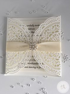 Elegant laser cut effect wedding invitation-Jane | nuMONDAY