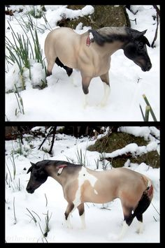 Breyer - Winter Foraging by The-Toy-Chest on DeviantArt Breyer Horse Photography