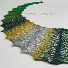 Free Knitting Pattern: Random Bubbles Scarf