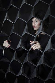 Steel sculptural screen or room divider Titled Mudejar by Siba Sahabi