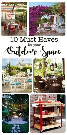 10 must have items that every outdoor space needs. Transform your porch or patio into an outdoor room with these 10 essentials..jpg
