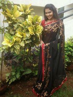Rachitha Rachu in Black Saree