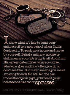 Written by a military spouse in appreciation of the military spouse. We do know what it means to serve - MilitaryAvenue.com