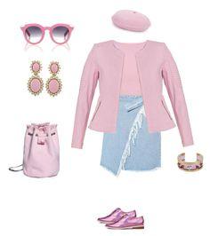 """pink pink pink "" by hiyomi on Polyvore featuring ファッション, VIVETTA, ASOS, Basler, Irregular Choice, Ciner と Maria Francesca Pepe"