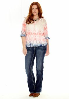 maurices plus size capri with cinched tie bottom. #workoutapparel