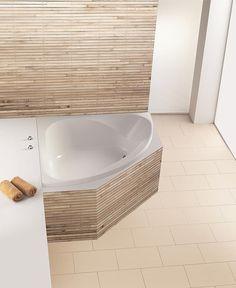 8 idées astucieuses pour exploiter les angles de votre maison Small Bathroom, Master Bathroom, Bathrooms, Corner Tub, Home Improvement, Sweet Home, Bathtub, Angles, Design