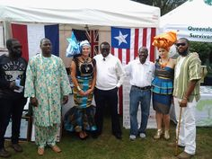 The lady in the orange African headtie took second place in the African costume faction show at the 2015 QACC African Day Festival.