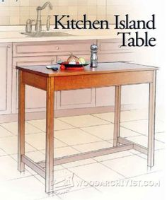2294-Kitchen Island Table Plans