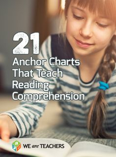 Our favorite anchor charts for teaching reading comprehension. #weareteachers