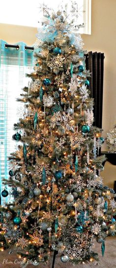 Blue and Silver Christmas Trees | I need to add icicles and snowflakes to my tree