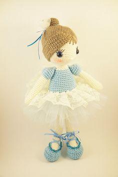Amigurumi crochet doll  Beautiful ballerina by BubblesAndBongo ♡